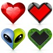 Valentine hearts set — Vettoriali Stock