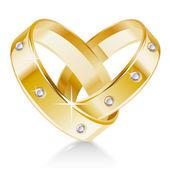 Snubní prsteny — Stock vektor