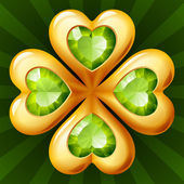 Golden clover — Vettoriale Stock