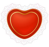 Red heart with lace 2 — Stockvector