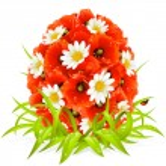 Vector spring flowers in the shape of Easter egg — Stock Vector