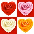 Roses in the shape of heart — Stock Vector #4211598