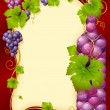 Vector grape frame with crown — Stock Vector #4336463