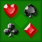Vector jewel card symbols — Stock Vector
