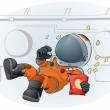 Astronaut in the space ship — Stock Vector #4121870