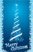 Festive christmas tree — Stock Vector