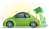 Eco car on the bio fuel — Stock Vector