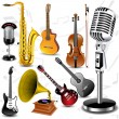 Vector musical instruments — Vector de stock #4079288