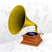 Vector retro gramophone — Stock Vector