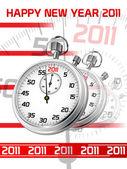 Gott nytt år 2011 — Stockvektor