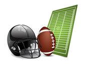 éléments de conception de football américain — Vecteur