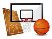 Basketball design elements — Stock Vector