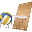 Volleyball design elements — Stock Vector