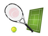 Tennis design elements — Stock Vector