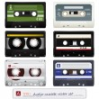 Vector audio cassettes - Stock Vector