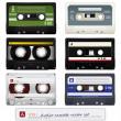 Vector audio cassettes — Stock Vector