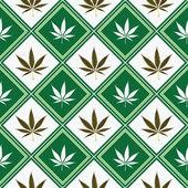 大麻无缝纹理 — 图库矢量图片