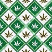 Cannabis nahtlose Textur — Stockvektor