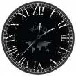 Stock Vector: World clock
