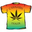Cannabis dealer tshirt — Stock Vector