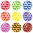 Royalty-Free Stock Vector Image: Bubbles with squares