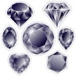 Diamonds labels — Stock Vector