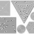 Mazes collection against white — Stock Vector #4179991