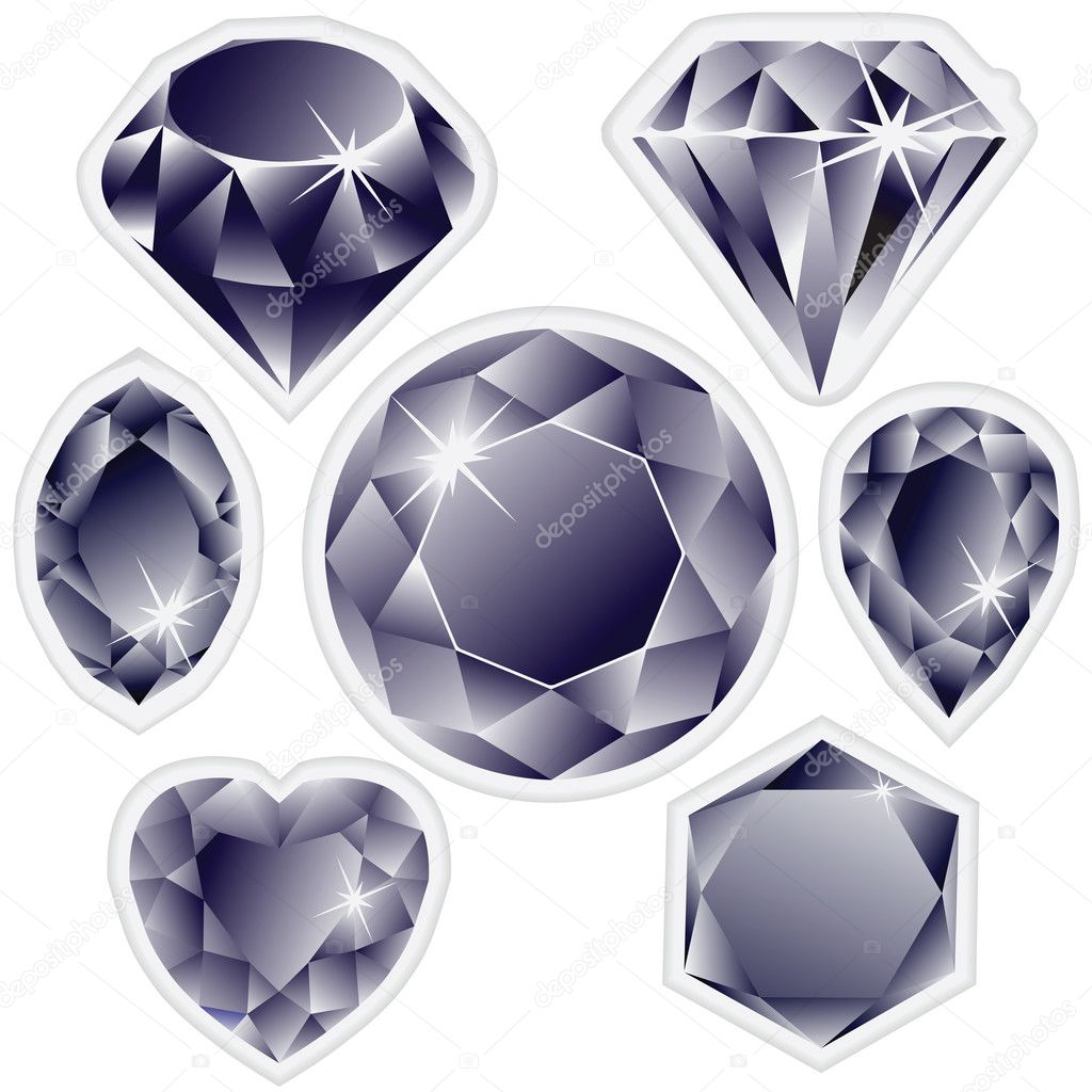 Diamonds labels against white background, abstract vector art illustration — Image vectorielle #4179989