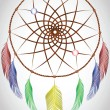 Stock Vector: Dream catcher