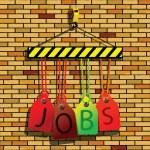 Jobs under construction — Stock Vector