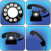 Telephone icons collection — Stock Vector