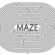 Rounded maze — Stock Vector
