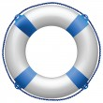 Life buoy blue — Stock Vector #4590787