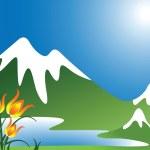 Mountain landscape — Stock Vector #4590798