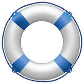 Life buoy blue — Stock Vector