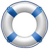 Life buoy blue — Stock Vector