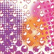 Wektor stockowy : Hearts and bubbles pattern