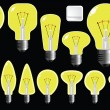 Royalty-Free Stock Vector Image: Light bulbs shapes