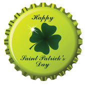 Happy saint patrick bottle cap — Vector de stock