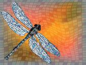 Dragon fly — Stock Vector