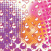 Hearts and bubbles pattern — Stock Vector
