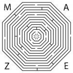 Постер, плакат: Octagon maze