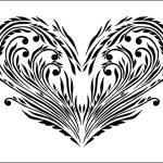 coração floral abstrata — Vetorial Stock