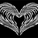 Decorative floral heart — Stock Vector