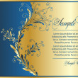 Vetorial Stock : Elegance blue-gold background