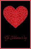 Röda vackra hjärtat — Stockvektor