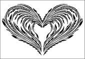 Decorative vector heart — Stock Vector