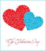 Romantiska dekorativt hjärta — Stockvektor
