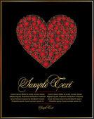 Valentino rosso per il design — Vettoriale Stock