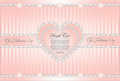 Decorative background for valentines day — Vettoriale Stock